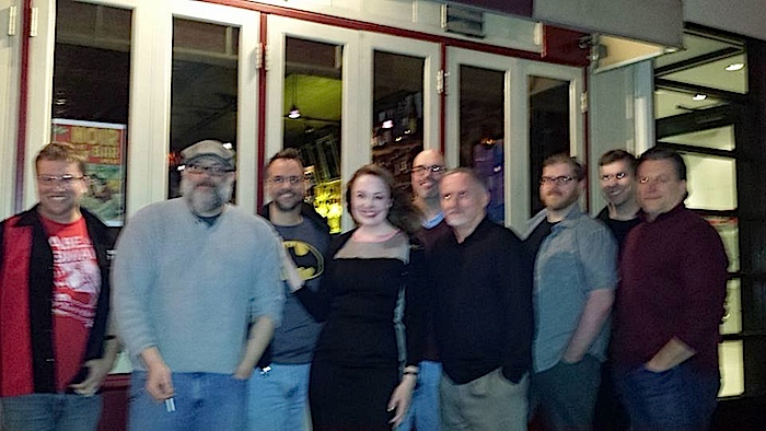 A full frontal, although missing Alex Segura, you get Terrence McCauley in all his glory, albeit a smidge blurrier. Not sure who took this shot!